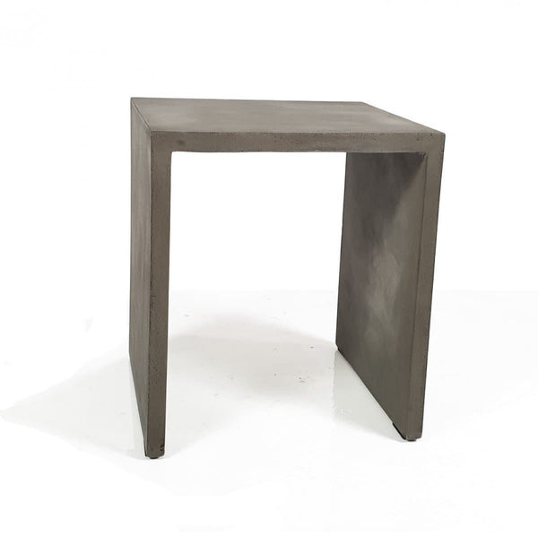 Modrest Creede - Modern Grey Concrete End Table