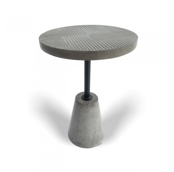 Modrest Dakan - Modern Grey Concrete End Table