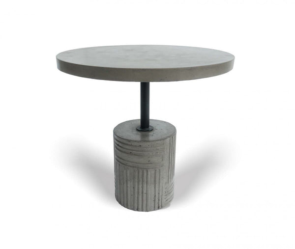 Modrest Keota - Modern Grey Concrete End Table