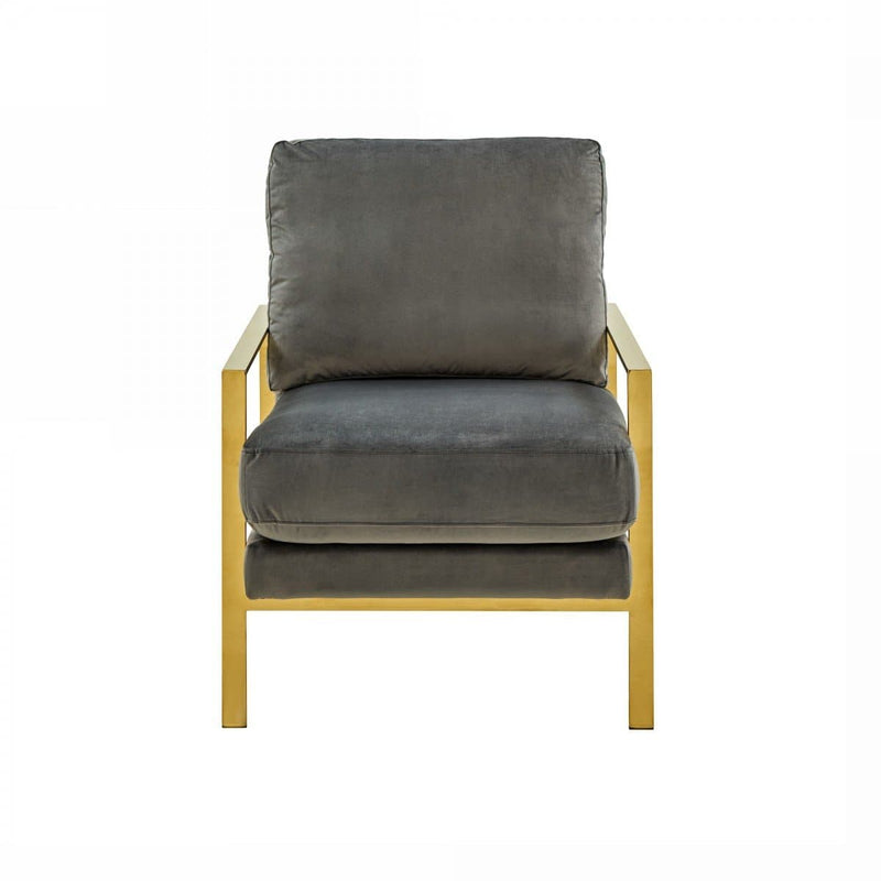 Divani Casa Bayside - Modern Grey Fabric Accent Chair
