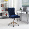 Paris Office Chair With Nailhead Blue And Brass