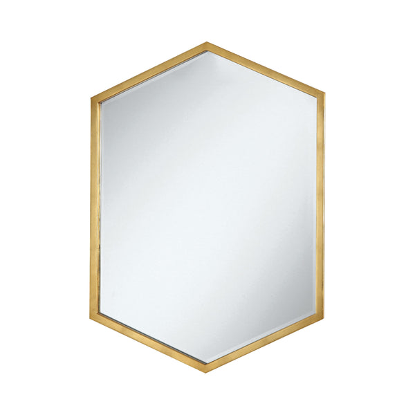 Hexagon Shaped Wall Mirror Gold