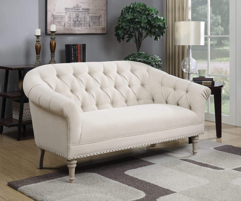 Royal Tufted Back Settee