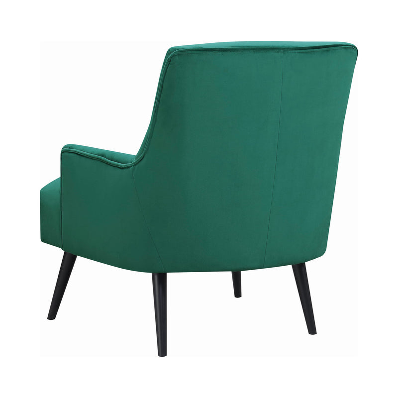 Luis Accent Chair Green & Black