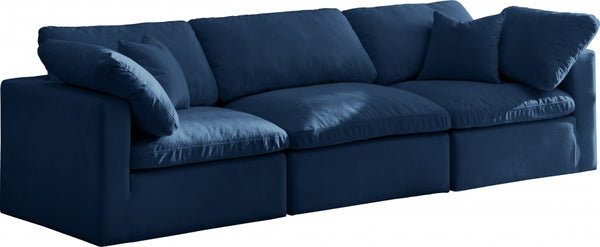 Cloud Plush Velvet Modular Down Feather 3-Piece Sofa