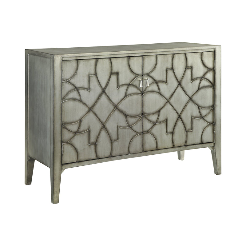 Helena Grey Carved Accent Cabinet
