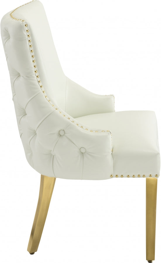 Tuft Faux Leather Dining Chair