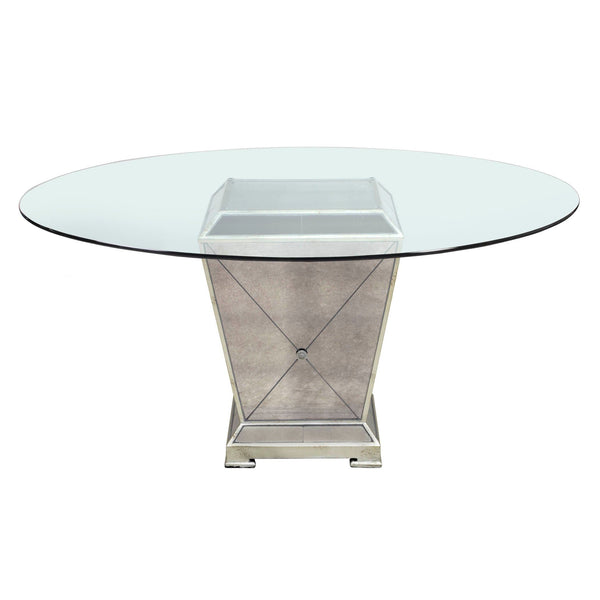 Borghese Mirrored Round Dining Table
