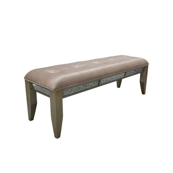 Ava Mirrored Bench