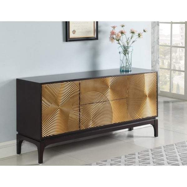 Casablanca Gold Glam Buffet with Brown