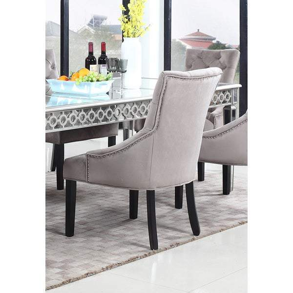 Jameson Suede Dining Accent Dining Chairs - hollywood-glam-furnitures