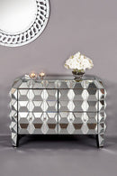 Pineapple Spike Mirrored chest cabinet