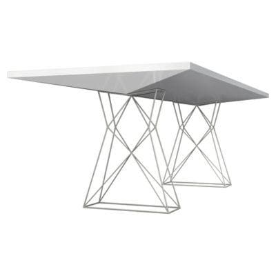 Curzon White Gloss Dining Table - hollywood-glam-furnitures