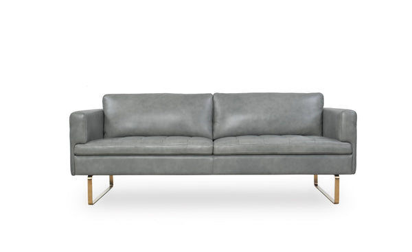 Moroni Frensen Grey Leather Sofa