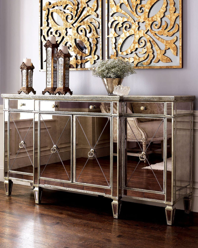 Borghese Mirrored Buffet Bar - hollywood-glam-furnitures