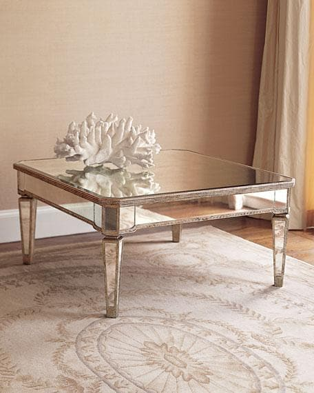 Amelie Mirrored Coffee Table - hollywood-glam-furnitures