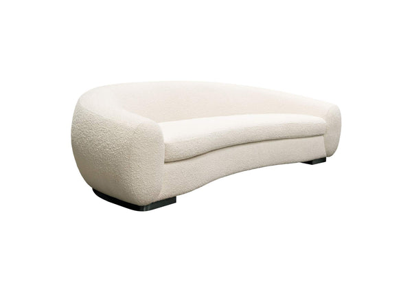 Pascal Sofa, Bone Boucle Textured Fabric