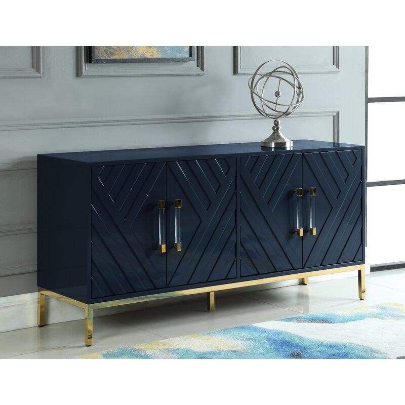 Harper Lacquer Buffet with Gold Legs