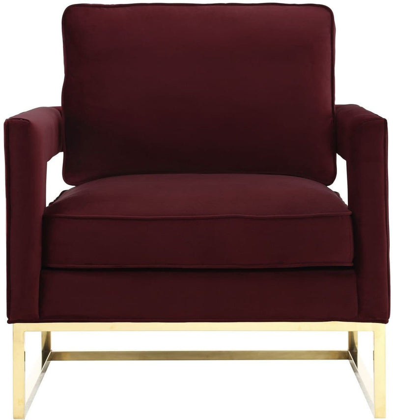 Avery Velvet Accent Chair
