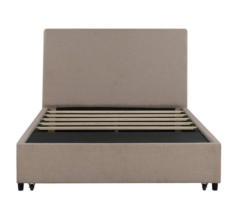 Edgar Beige Storage Bed - hollywood-glam-furnitures