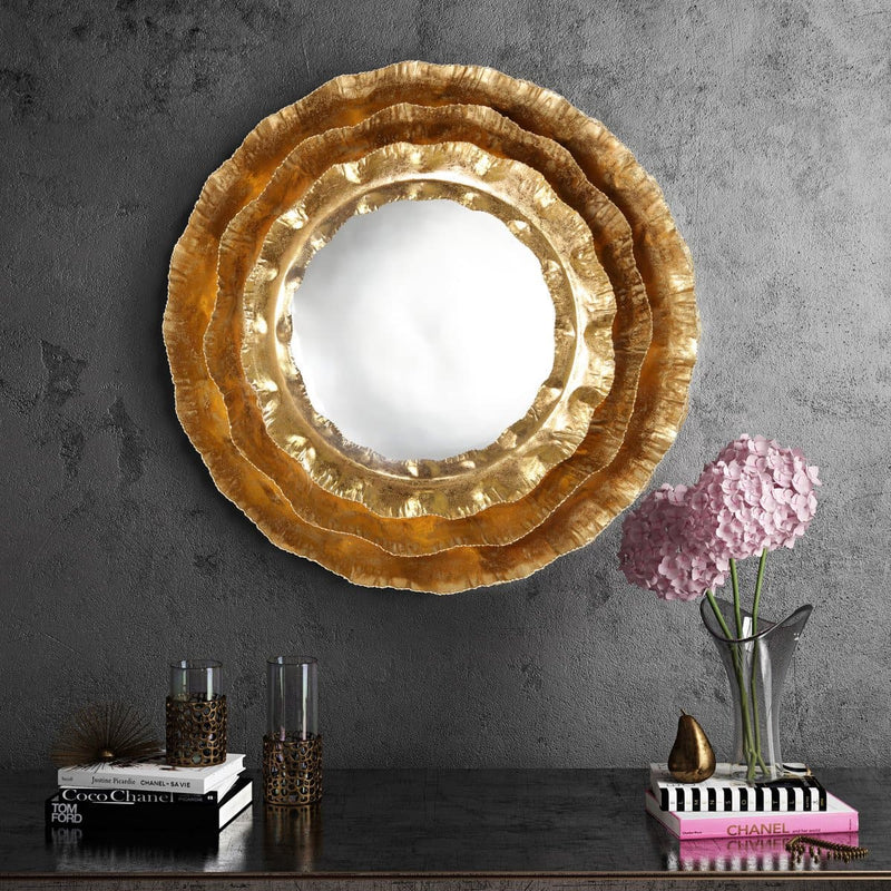 Petal Gold Mirror - hollywood-glam-furnitures