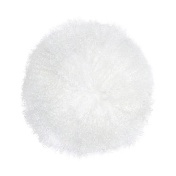 "New Zealand Sheepskin 16"" Round Pillow"