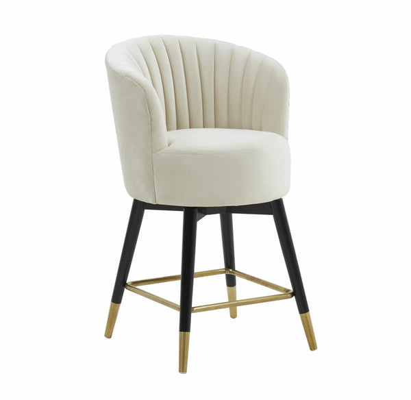 Liana Velvet Swivel Stool