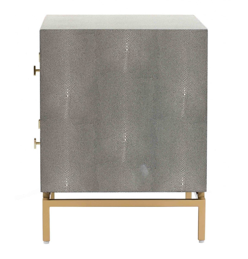 Pesce Shagreen Nightstand - hollywood-glam-furnitures
