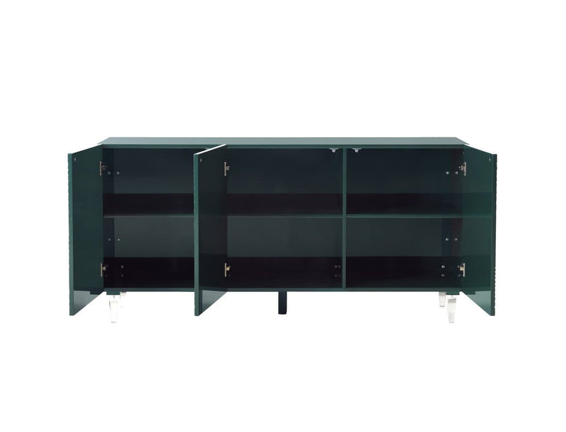 Karma Green Lacquer Buffet - hollywood-glam-furnitures