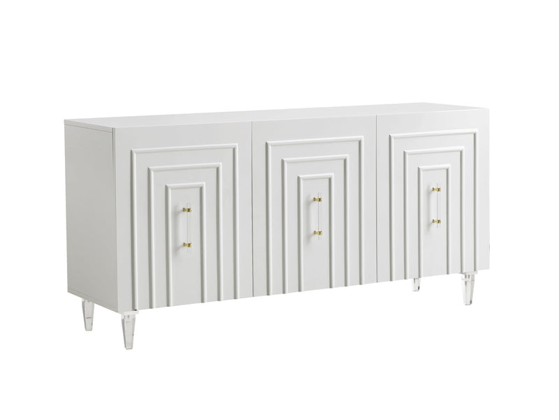 Famke White Lacquer Buffet - hollywood-glam-furnitures