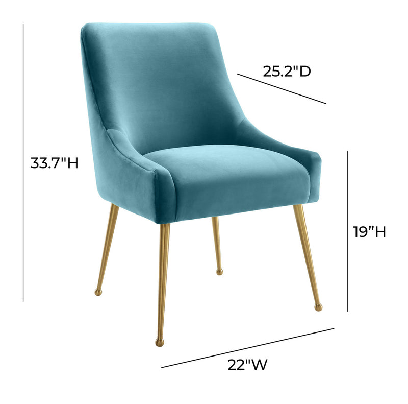 Beatrix Velvet Dining Chair Gold Legs