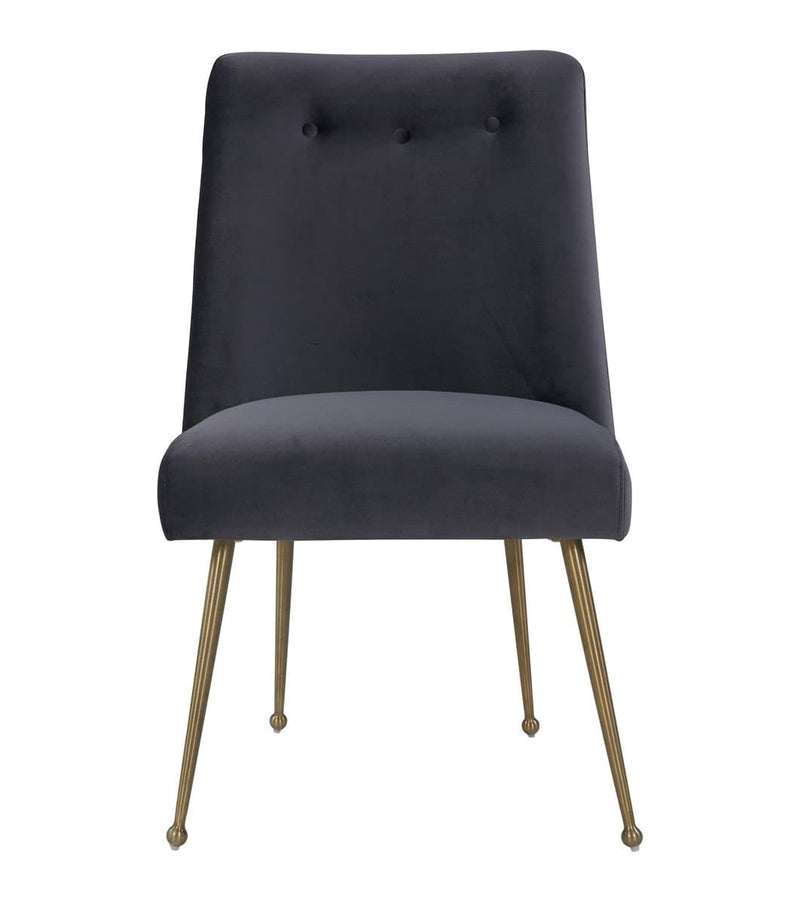 Batik Grey Velvet Dining Chair