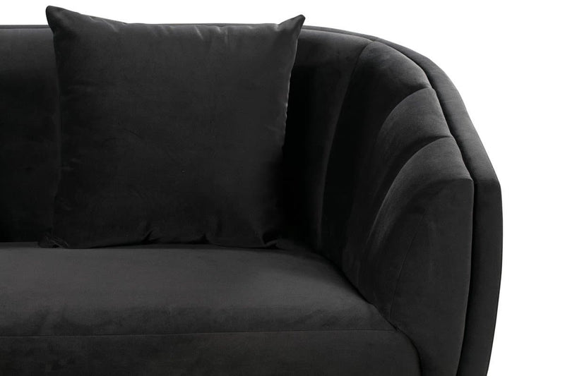 Arti Grey Velvet Loveseat - hollywood-glam-furnitures