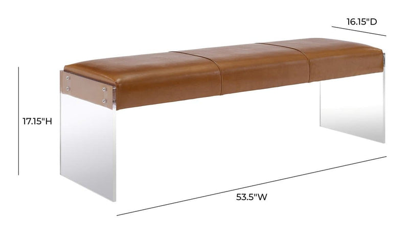 Envy Leather Acrylic Bench