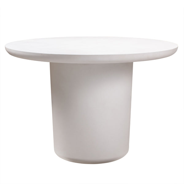 Roxie Round Ivory Concrete Dining Table