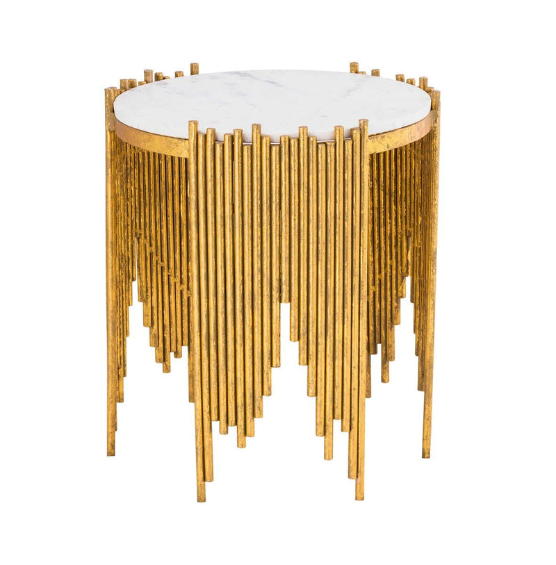 Waterfall side table - hollywood-glam-furnitures