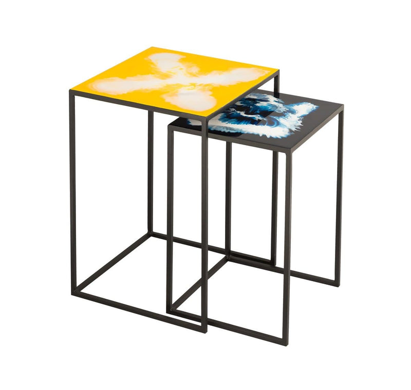 Enamel Side Tables – Set of 2