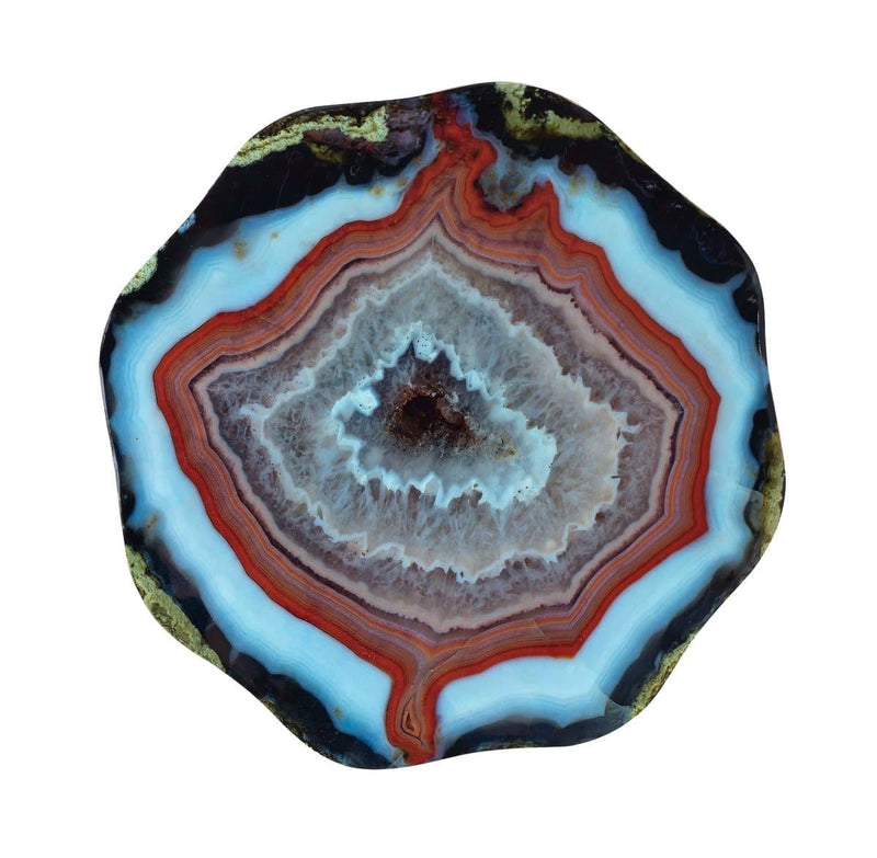 Lava Blue Agate Side Table