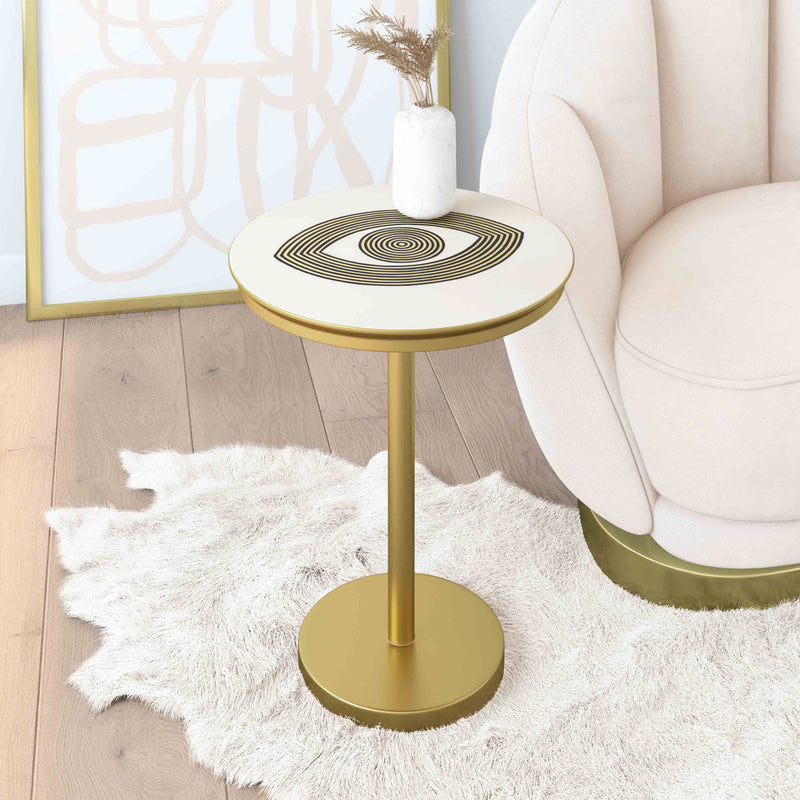 Eye Hand painted Side Table