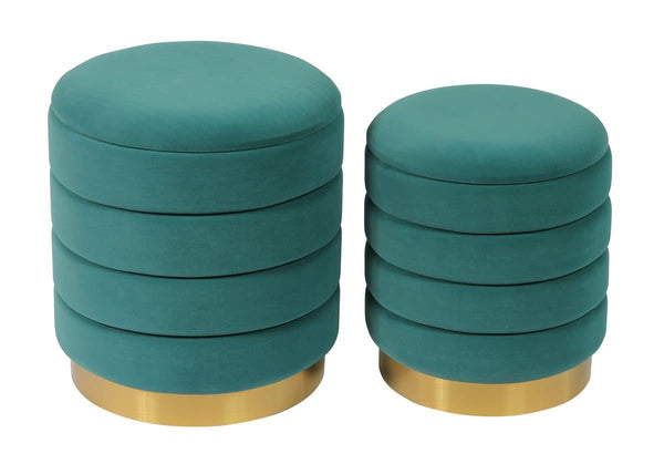 Saturn Storage Ottomans - Set of 2