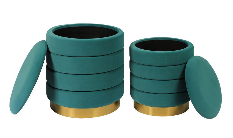 Nora Storage Ottomans - Set of 2