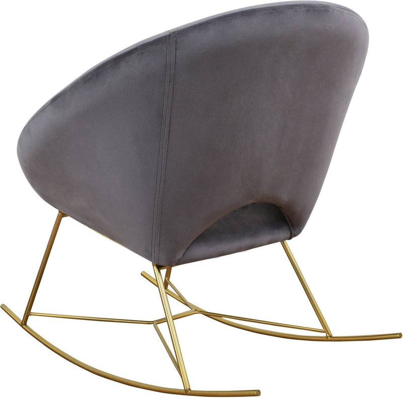Nolan Velvet Rocking Chair