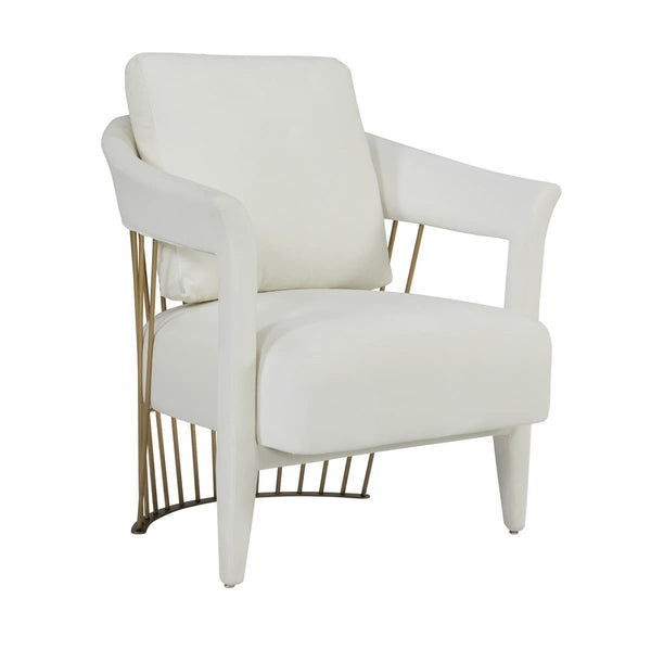 Aztec Cream Velvet Accent Chair