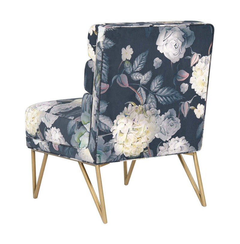 Kelly Floral Velvet Chair