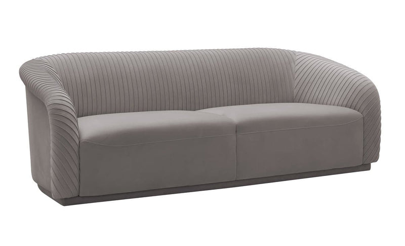Yara Pleated Velvet Sofa