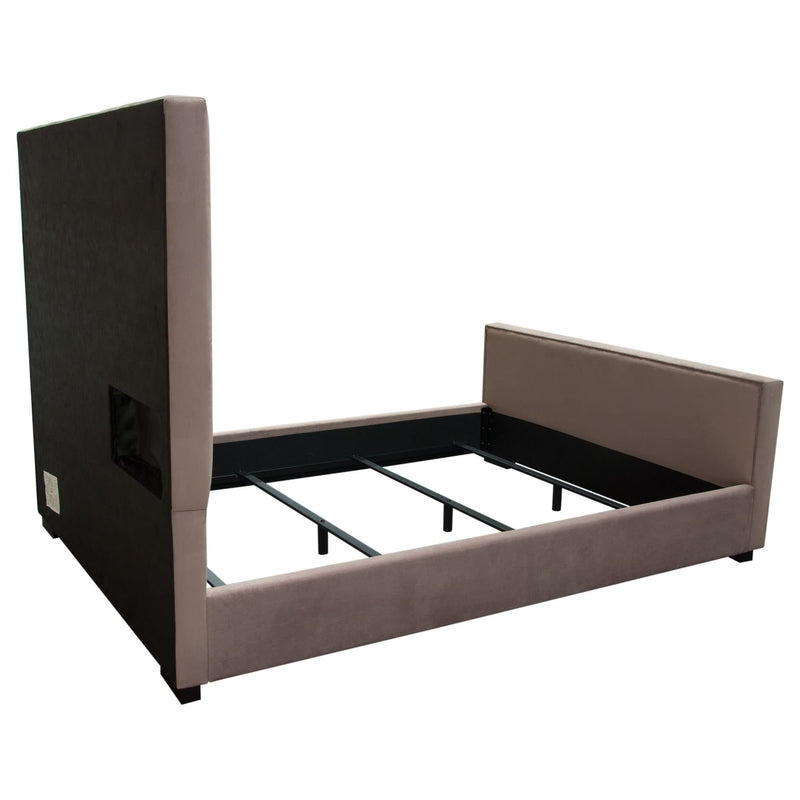 Venus Velvet High Headboard Bed