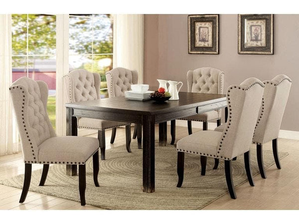 Rustic 6 PIECE DINING TABLE SET - hollywood-glam-furnitures