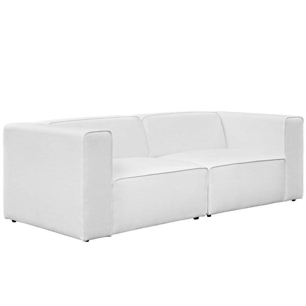 Mingle 2 Piece Upholstered Fabric Sectional