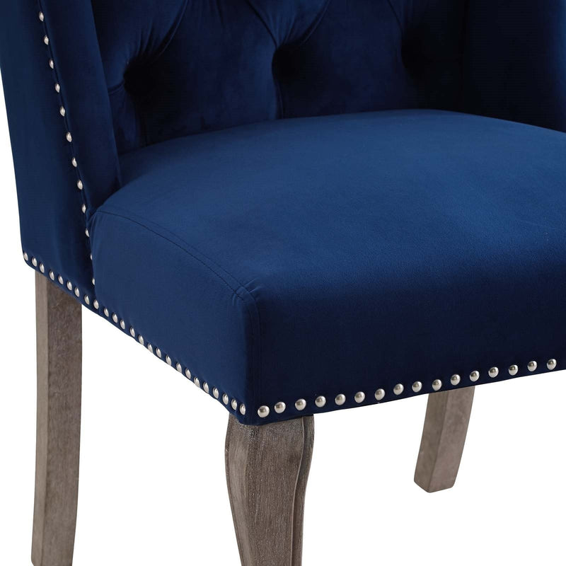 Apprise French Vintage Velvet Dining Chair