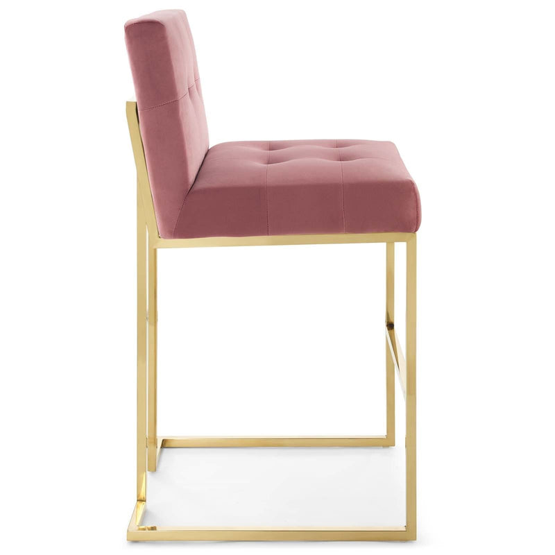 Privy Velvet Bar Stool